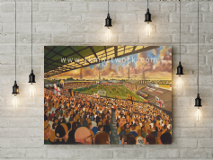 boothferry park on matchday canvas a2 size